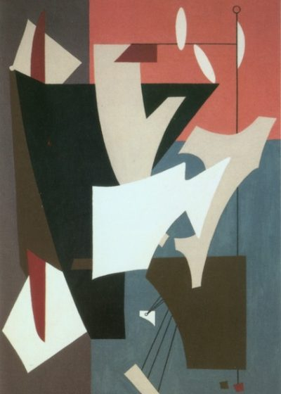 "Composition with White Ovals, 1952, Oil on composition board, 34 1/2 x 20 3/4"" Whitney Museum of American Art"