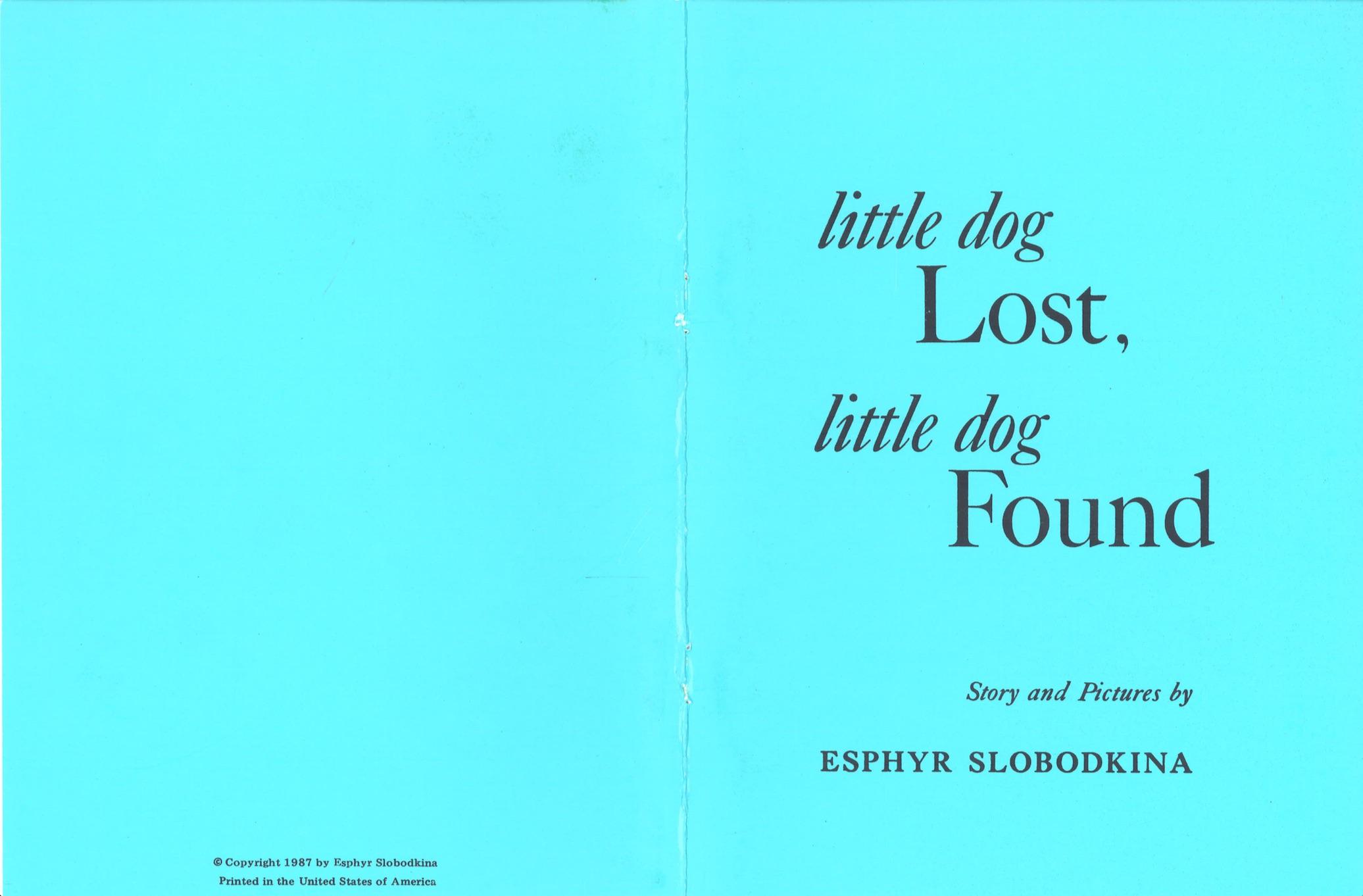 Little Dog Lost Little Dog Found